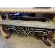 Wood / Metal / Stone - Glass Coffee Table