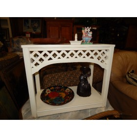 White End Table / Glass Top