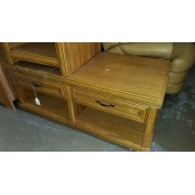 Blonde Wood Two Drawer Coffee Table