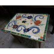 Multi Color Mosaic Table