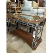 Wood / Metal Console Table