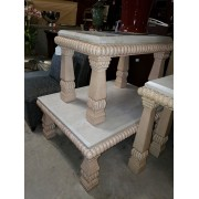 Stone Top Coffee & End Table