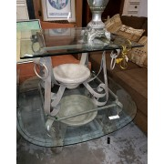 Glass Top Coffee & Two End Tables