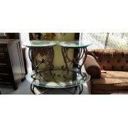 Glass / Tile Top Coffee & Two End Tables