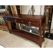 Three Drawer Wood Console Table
