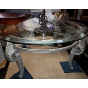 Silver / Glass Top Coffee Table