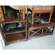Wood / Glass Top Coffee & End Table