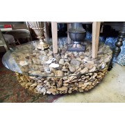 Driftwood / Glass Top Coffee Table