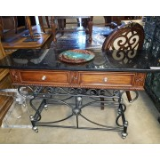 Two Drawer Sofa Table / Marble Top