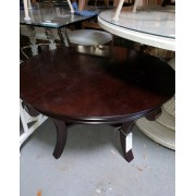 Round Mahogany Cocktail Table