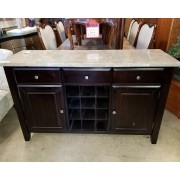 Marble Top / Black Buffet
