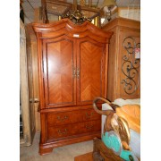 Broyhill - Two Piece Pecan Armoire