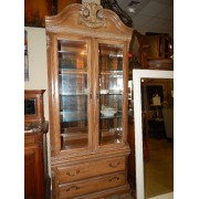 Lexington - Two Piece Wood / Glass Curio
