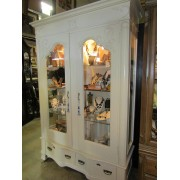 White Wood Carved Curio