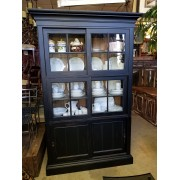 One Piece Black Hutch/Cabinet