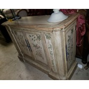 Tan Buffet With Floral Design