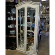 White Washed Curio Cabinet