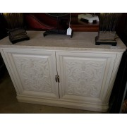 Cream Carved Cabinet