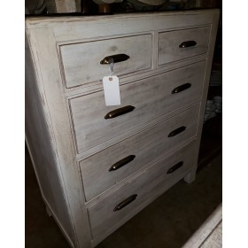 White Distressed Chest
