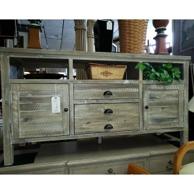 Washed Distressed Cabinet