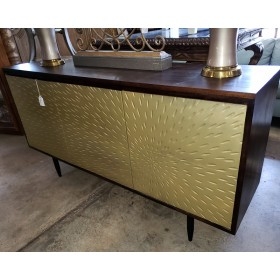Wood / Gold Console Cabinet