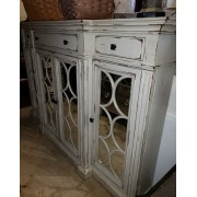 Tall Shabby Cabinet / Mirrored Front