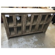 Taupe Cabinet / Glass Front