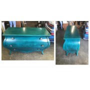 Hooker - Three Drawer Teal Chest