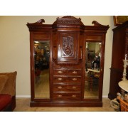 Six Piece Dark Wood Armoire