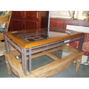 Wood - Iron Coffee Table - (10939-3)