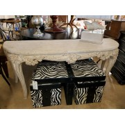 White Washed / Stone Console Table