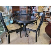 Round Black Table With Four Chairs
