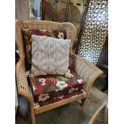 Wicker / Red Tropical Chair
