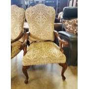 Thomasville Wood / Gold Arm Chair