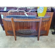 Tall Wood / Curved Sofa Table