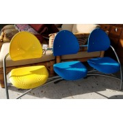 Yellow/Blue Chair-Bench