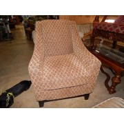 Upholstered Diamond Pattern Chair