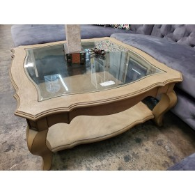 Taupe / Glass Coffee Table
