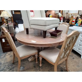 Jordyn - Weathered Dining Table With Four Chairs