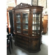 Two Piece Carved Hutch