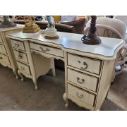 White / Gold French Provincial Desk