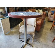 Oval Marble / Chrome Bistro Table