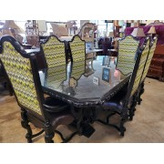 Orante / Glass Top Dining Table With Six Chairs