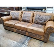 Tan / Brown Alligator Print Sofa