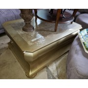 Gold / Marble Top Coffee Table