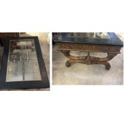 Marble / Glass / Wood Coffee Table