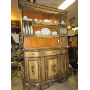 Painted Buffet With Hutch Top