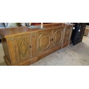 Wood Carved Front Credenza