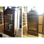 Wood Armoire /  Mirror Front